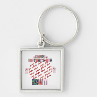 Patchwork 'MUM' Happy Mother's Day Photo Frame Key Chains