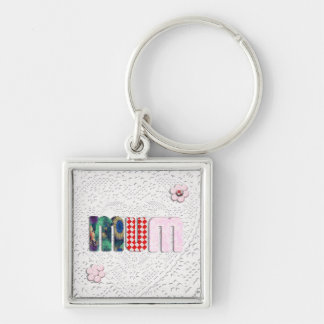 Patchwork 'MUM'  on Lace Keychains