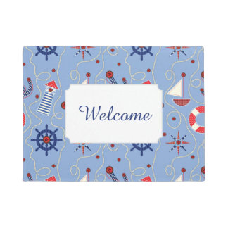 Patchwork Nautical Design | Add Your Text Doormat