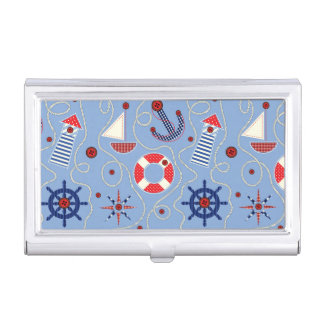 Patchwork Nautical Design Business Card Holder