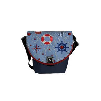 Patchwork Nautical Design Commuter Bag