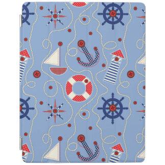 Patchwork Nautical Design iPad Cover