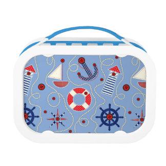 Patchwork Nautical Design Lunch Box