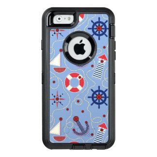 Patchwork Nautical Design OtterBox Defender iPhone Case
