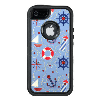 Patchwork Nautical Design OtterBox iPhone 5/5s/SE Case