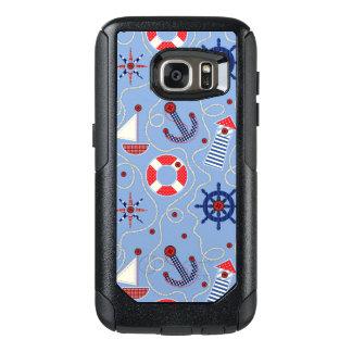 Patchwork Nautical Design OtterBox Samsung Galaxy S7 Case