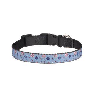 Patchwork Nautical Design Pet Collar