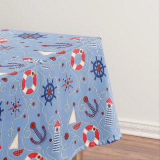 Patchwork Nautical Design Tablecloth