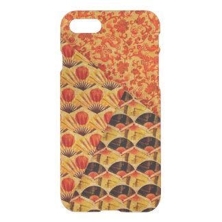 Patchwork of Japanese Fans and Dragons Patterns iPhone 8/7 Case