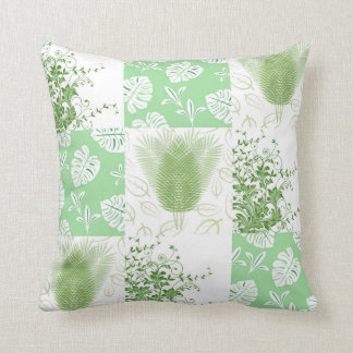 Patchwork of Leaves Reversible Cushion
