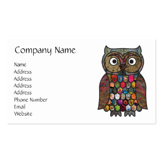 Patchwork Owl Business Card Template