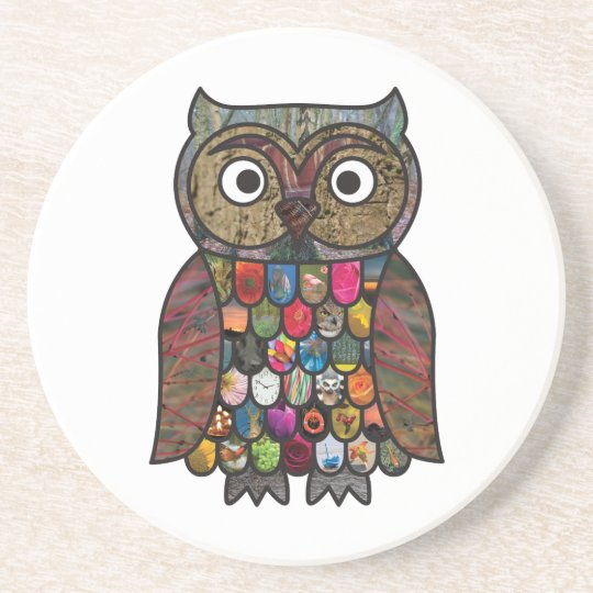Patchwork Owl Coaster