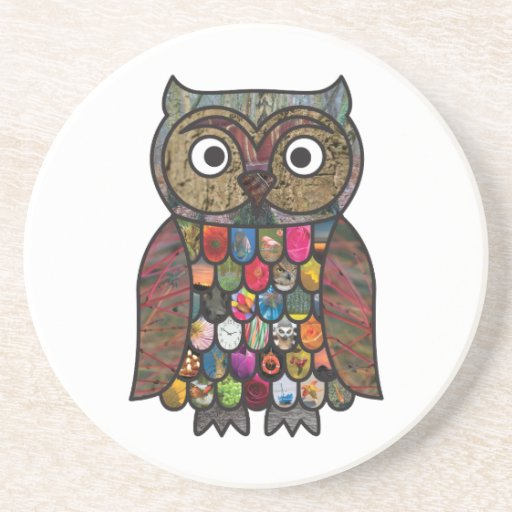 Patchwork Owl Coasters