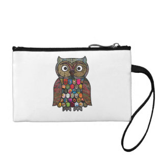 Patchwork Owl Coin Purse
