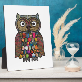 Patchwork Owl Plaque
