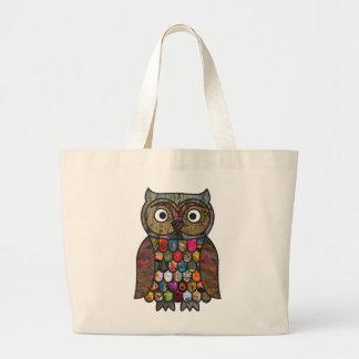 Patchwork Owl Tote Bag