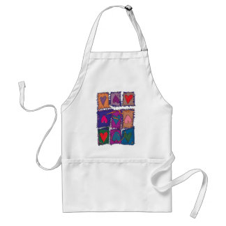 Patchwork pattern - your own background colour aprons