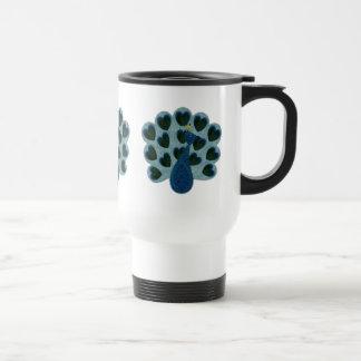 Patchwork Peacock Travel Mug Mugs