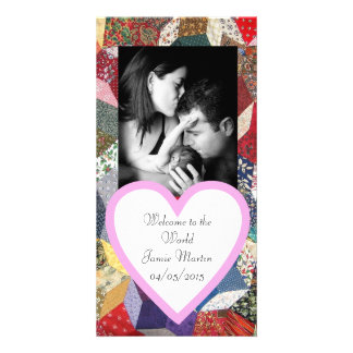 Patchwork Personalized Photo Card