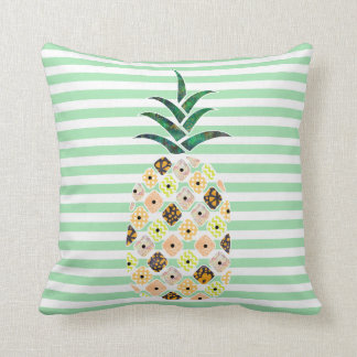 Patchwork Pineapple Pattern Throw Pillow