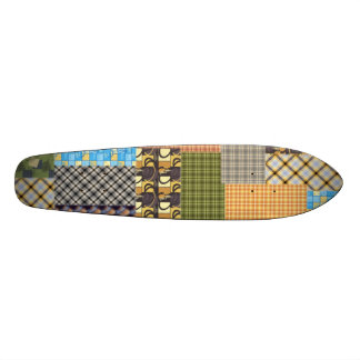 Patchwork Plaid Skate Board Decks