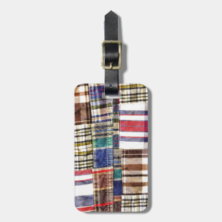 Patchwork Plaid / Tartan Luggage Tag