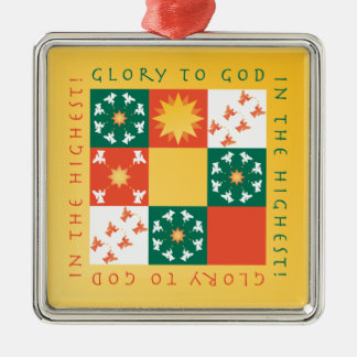 Patchwork Praise Christmas Ornament rv