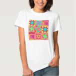 Patchwork Quilt Block Art Tee Shirt