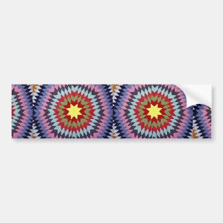 Patchwork quilt bumper sticker