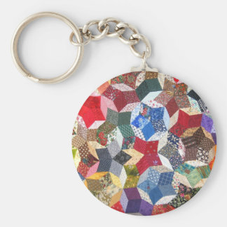 Patchwork Quilt Key Ring