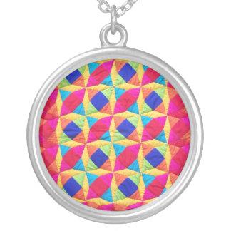 Patchwork Quilt Necklace