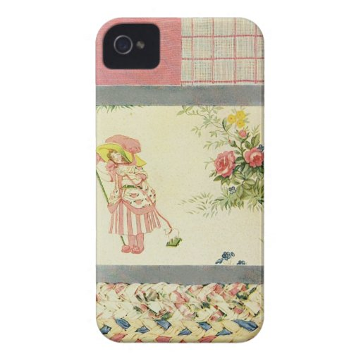 Patchwork Quilt Phone Case in Pink Case-Mate iPhone 4 Case