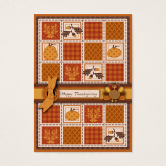 Patchwork Quilted-look Thanksgiving