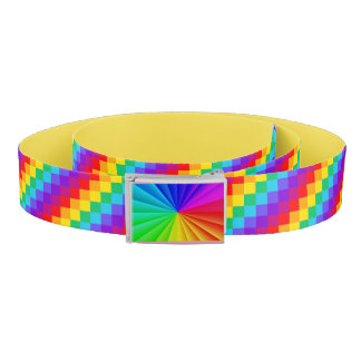 Patchwork Rainbow Belt