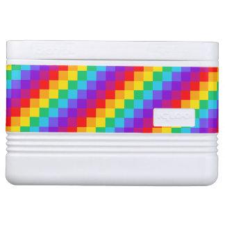 Patchwork Rainbow Igloo Cooler