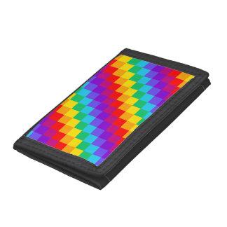 Patchwork Rainbow Nylon Wallet