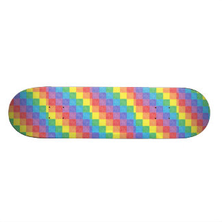 Patchwork Rainbow Skateboard