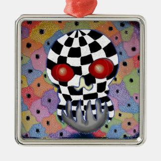 Patchwork Skull Christmas Ornament