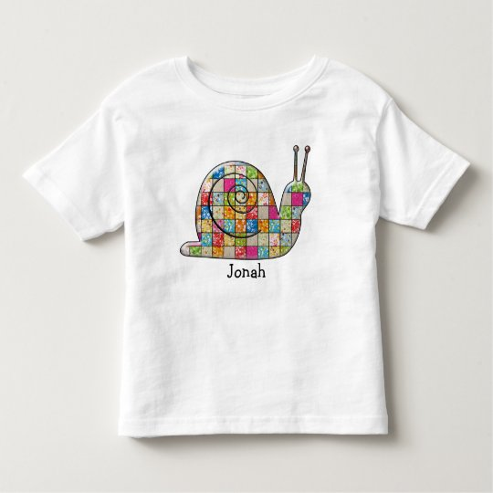 patchwork snail toddler T-Shirt