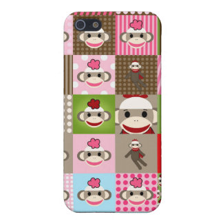 Patchwork Sock Monkey iPhone 4/4S Hard Case Cover For iPhone 5/5S