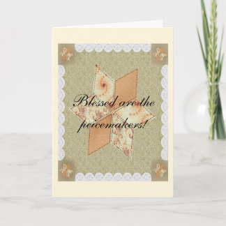 Patchwork Star Greeting Card