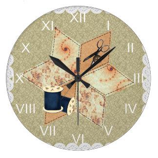 Patchwork Star Wall Clock