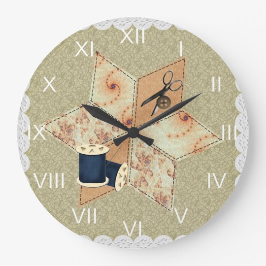 Patchwork Star Wall Clock