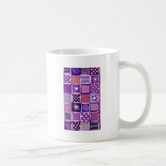 Patchwork Stars & Squares Basic White Mug