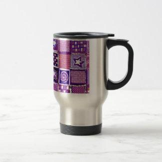 Patchwork Stars & Squares Stainless Steel Travel Mug
