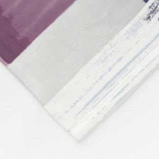 Patchwork Stripe Fleece Blanket