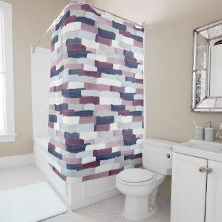 Patchwork Stripe Shower Curtain