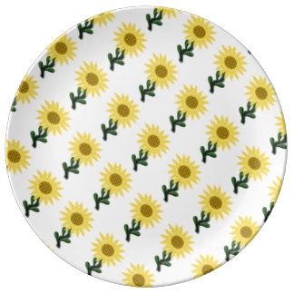 Patchwork Sunflower Porcelain Plate