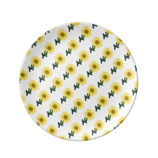 Patchwork Sunflower Small Porcelain Plate