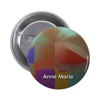 Patchwork w Customizable Text 6 Cm Round Badge